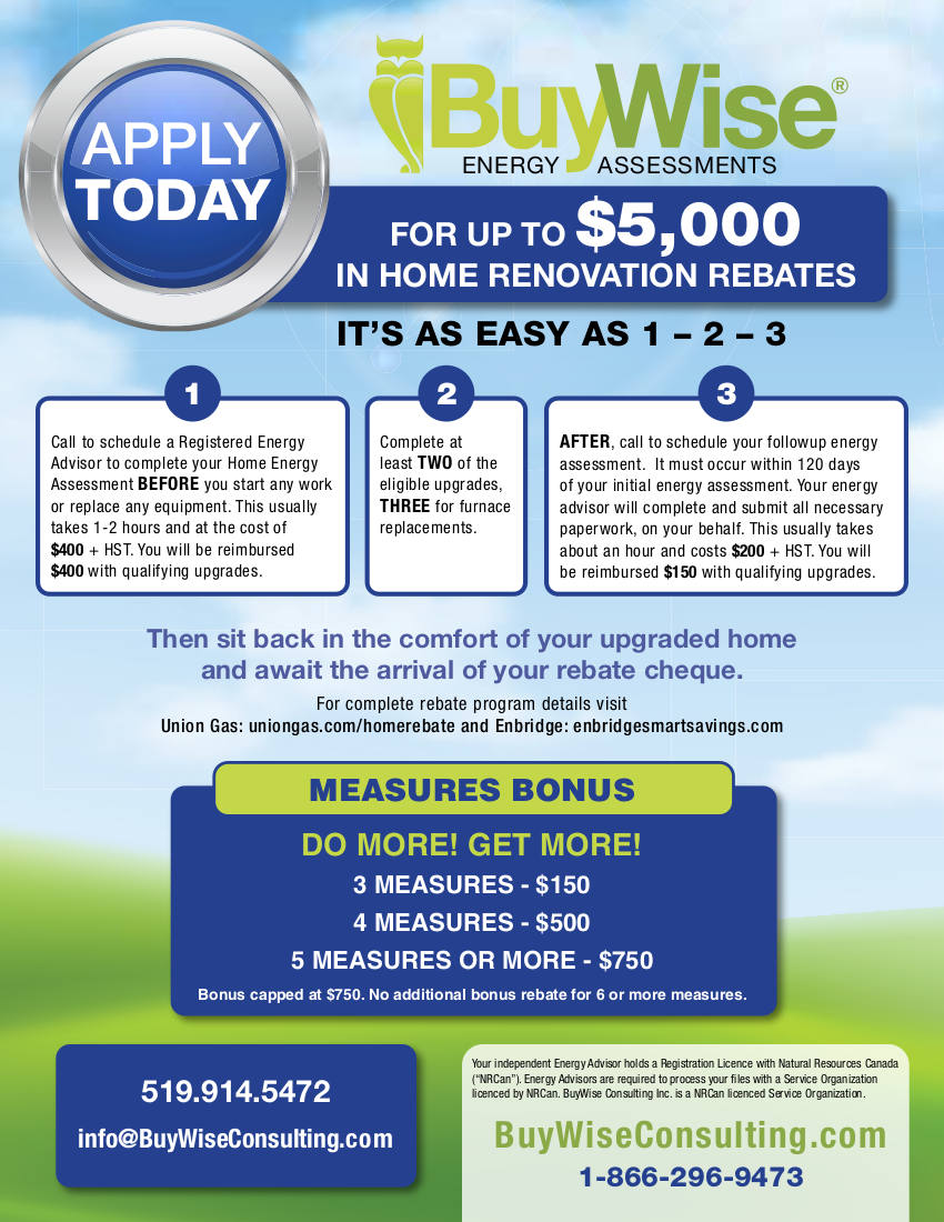Buywise Home Energy Rebate Page 1